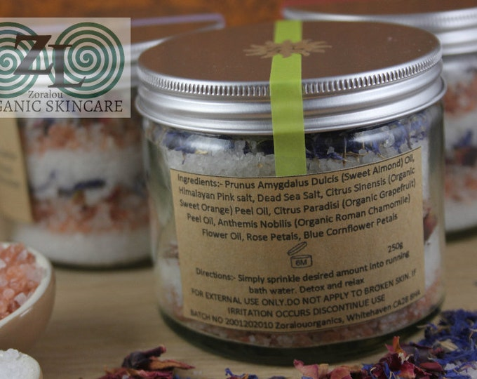 Green Tara Bath Infusion Salts (with Himalayan Pink Salt, Dead Sea Salt & organic essential oils)