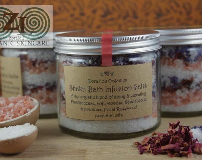 Shakti Bath Infusion Salts (with Himalayan Pink Salt, Dead Sea Salt & Organic essential oils)