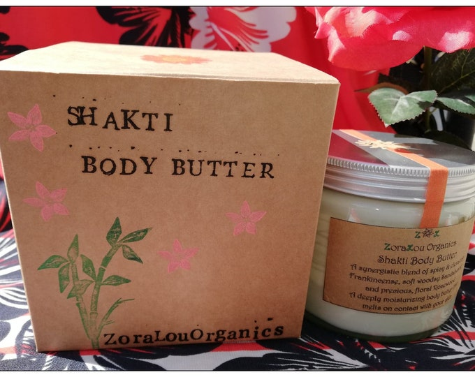 Shakti luxury body butter (raw Organic Cacao Butter, floral Organic Rosewood, woodsy Organic Sandalwood & spicy Frankincense)100%All Natural