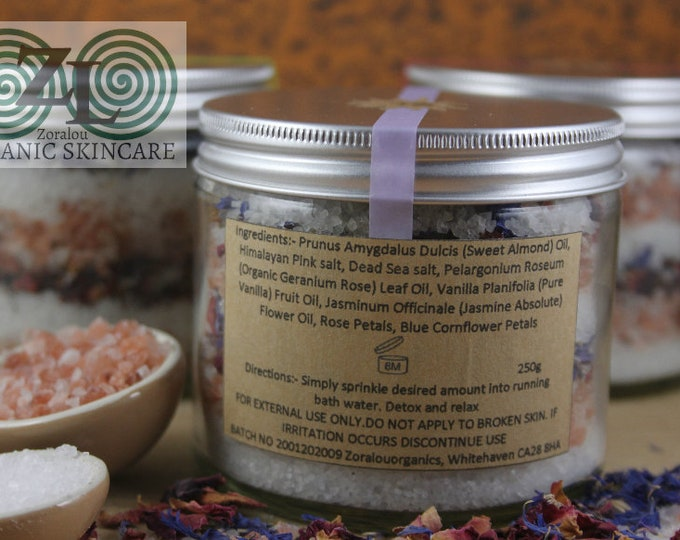 Butterfly Maiden Bath Infusion Salts (with Himalayan Pink Salt, Dead Sea Salt & organic essential oils)