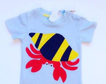 Crab Shirt, Crab Applique, Crab T Shirt, Crustacean, Nautical Toddler, Applique tshirt, Crab Print, Baby Crab, Crab Clothes, Bold Crab Tee