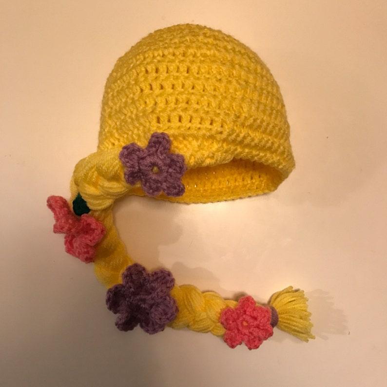 Rapunzel inspired toddler hat