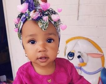 Grape Headwrap- Grapes Headband; Grapes Headwrap; Grapes Bow; Fall Headband; Mommy and Me Headbands; Baby Headbands; Grapes; Mommy and Me