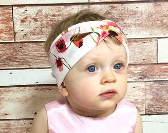 Warm Floral Headwrap- Flower Head Wrap Baby Head Wrap Headwrap Baby Headwrap Head Wrap Big Bow Headwrap Girls Headwrap Toddler Headwrap