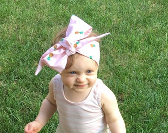 Pineapple Headwrap- Headwrap, Pineapple Headband; Pineapple Bow; Mommy and Me Headbands; Baby Headwrap; Toddler Headwrap; Newborn Headwrap
