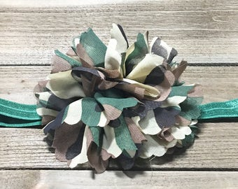 Camo Headband Baby Headband Baby Girl Headband Baby Headband  Girls Headbands Newborn Headband Big Flower Headband Hair Bows Hair Clip Bows