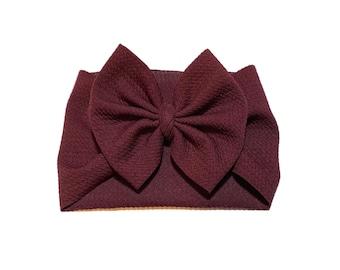 Brown Lace Headband Baby Girl Headband Autumn Headband Mauve  Brown and Ivory Headband Fall Lace Headband Thanksgiving Headband