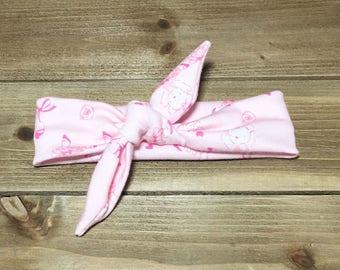 Ballerina Headband- Baby Headwrap Baby Head Wraps Tie Knot Headband Matching Baby Headbands Girls Headbands Newborn Headband Jersey Knit