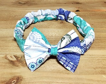 Sealife Headband- Sealife Bow Headband; Sealife Bow; Sea Headband; Baby Headband; Baby Girl Bow Headband; Baby Bows; Baby Girl Headband