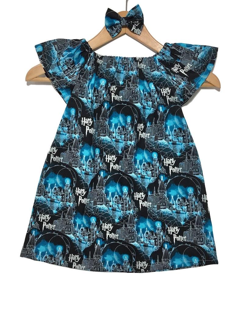 Harry Potter Dress Baby Dress; Peasant Dress; Harry Potter Outfit; Toddler Dress; Girls Dress; Baby Outfit; Toddler Outfit; Hogwarts Moon