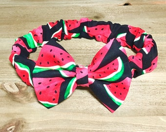 Watermelon Headband Watermelon Bow Headband Watermelon Bow Baby Headbands Baby Girl Bow Headband Baby Headband Baby Girl Headband Baby Bows