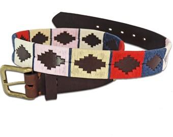Polo Belt Multicolor Brown - Argentina belt - traditional leather belt