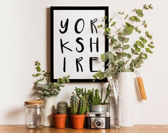A4 Yorkshire Typography Print