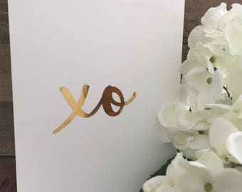 XO Card Set // Gold Foil Card Set // Valentine's Day Cards