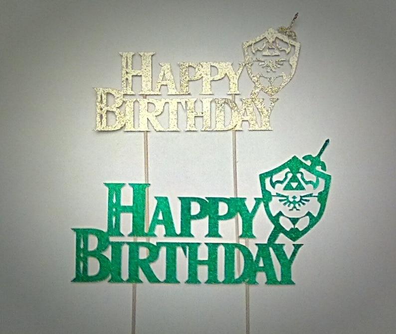Zelda Cake Topper Party Decor Birthday