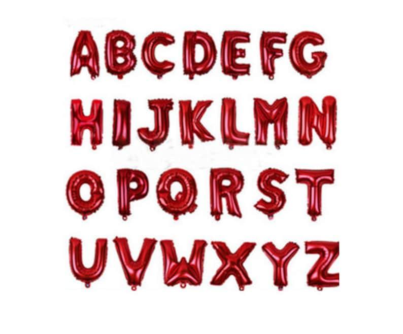 Custom Phrases in Red Balloons Custom 16 Red Balloon Letter Banner Custom Name Banner