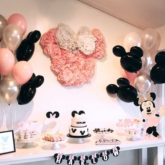 Mickey Or Minnie Balloon Kit Mickey Mouse Party Decorations Etsy