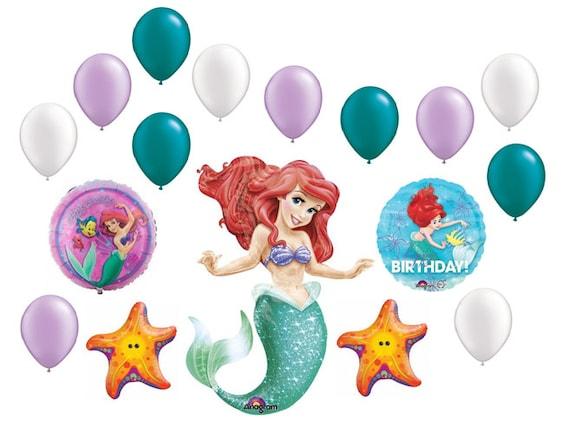 5 Stóp Mała Syrenka Pakiet Balon Ariel Dekoracje Urodzinowe Etsy