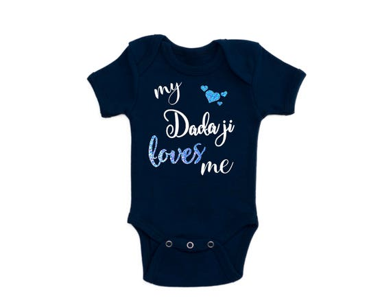 Desi Baby Clothes Dad bodysuit Baby Shower Gift Baby Clothes Muslim Gift Desi Indian Grandparents I love my Baba babygrow uncle