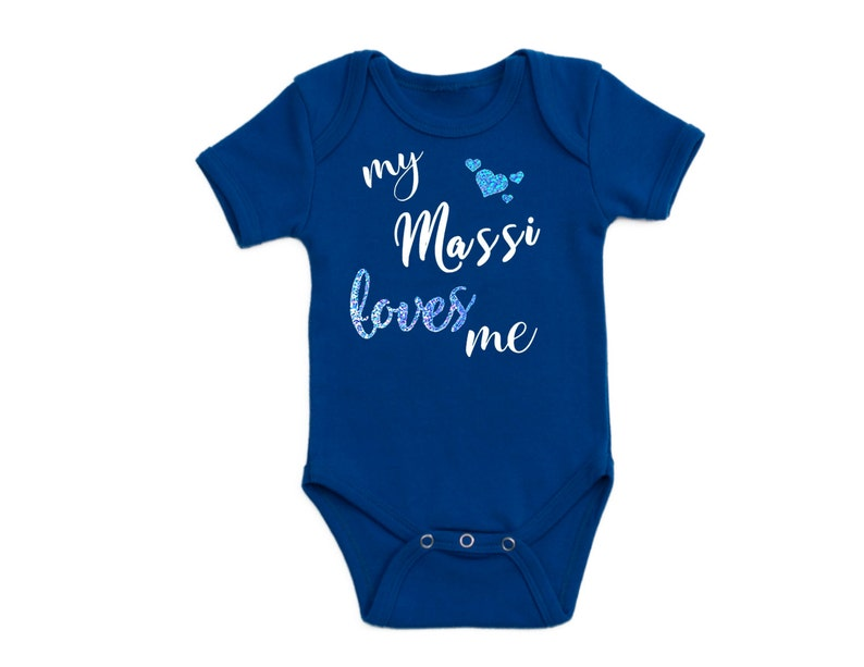 My Massi Loves Me Short Sleeve Baby Bodysuit Aunt Aunty Etsy