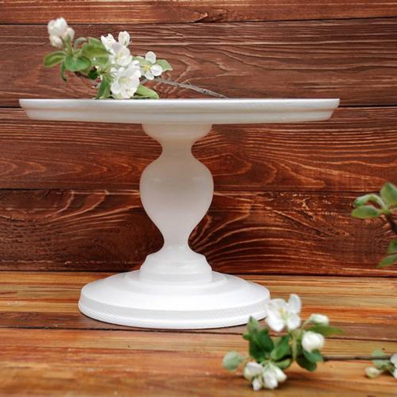 618 inches Wedding Cake Stand Rustic cake stand image 0