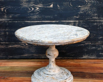 """6"""" 7"""" 8"""" 9"""" 10"""" 11"""" 12"""" 13"""" 14"""" 15"""" 16"""" 17"""" 18"""" inches Distressed Cake Stand, wedding cake stand, Party Stand, wooden cake stand,cake stands"""