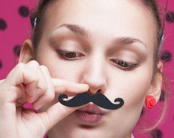 Free shipping Domestic* 3D Print Glow/wood/Black Handlebar Moustache Mustache