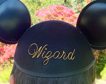 Stitch Script Personalized Mouse Ear Hat with Your Name