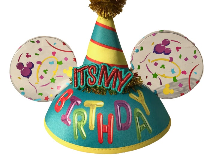 Personalized It's My Birthday Mickey Mouse Ear Hat