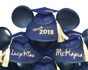 Personalized 2018 Graduation Mickey Mouse Ear Hat