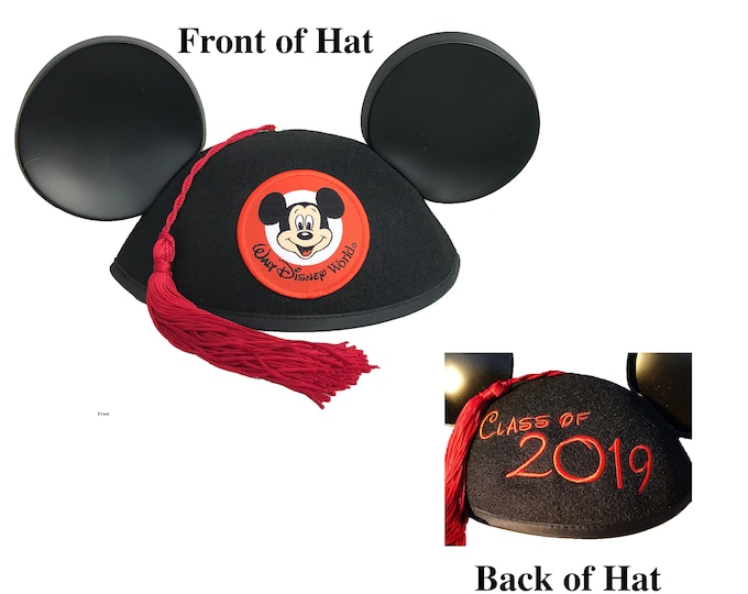 Class of 2019 Graduation Mickey Mouse Ear Hat with Tassel