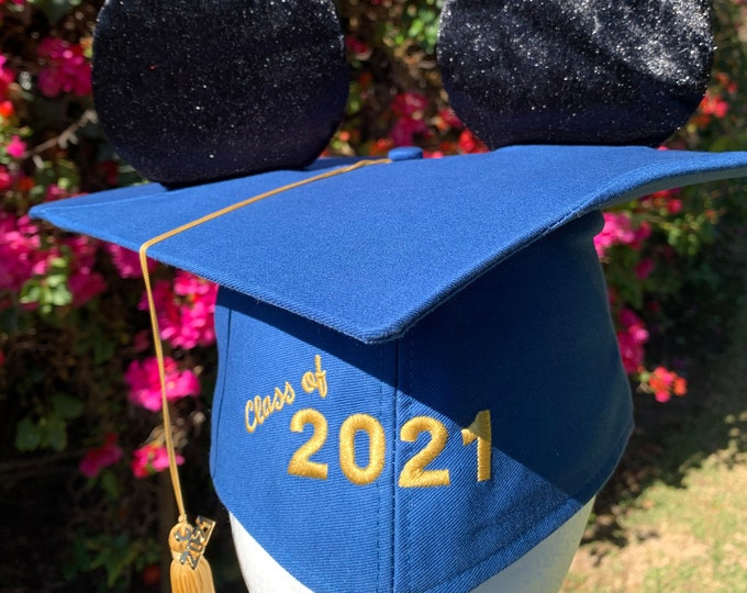 Class of 2021 Graduation Mickey Mouse Mortar Board with Tassel