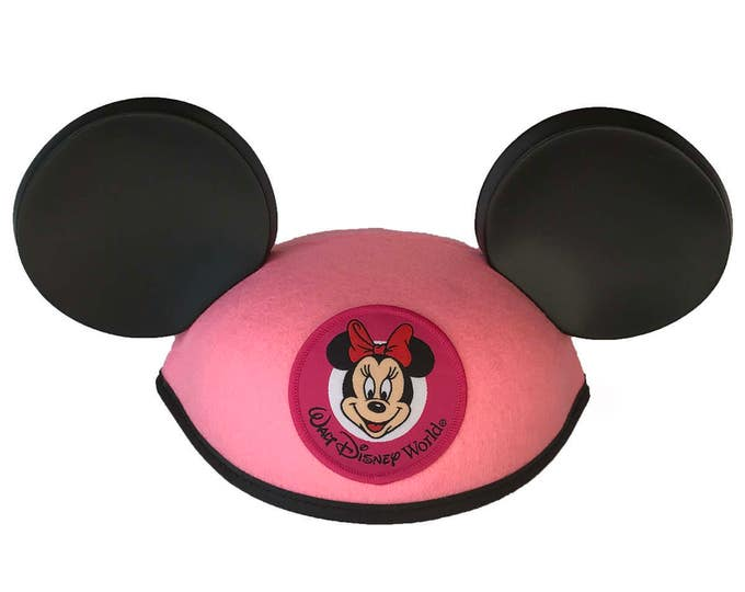Personalized Walt Disney World Toddler Pink Minnie Mouse Ear Hat