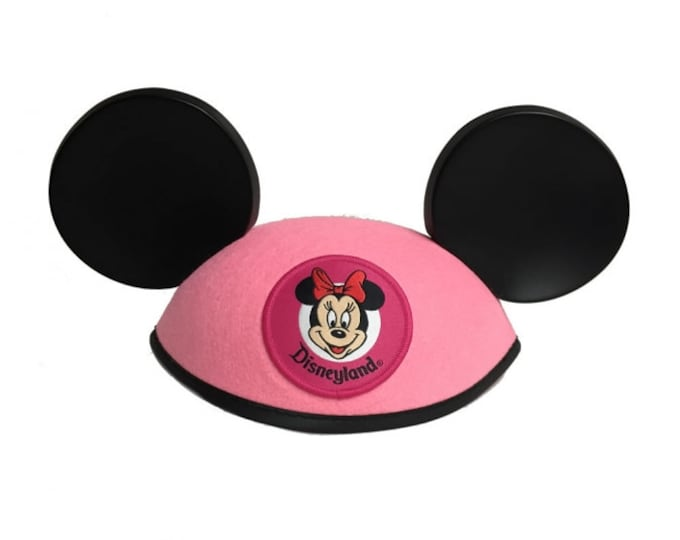 Personalized Disneyland Youth Pink Minnie Mouse Ear Hat