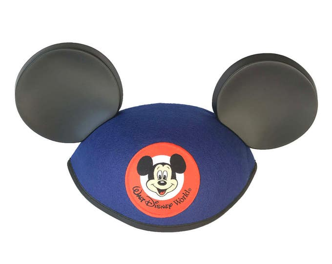 Personalized Walt Disney World Youth Blue Mickey Mouse Ear Hat