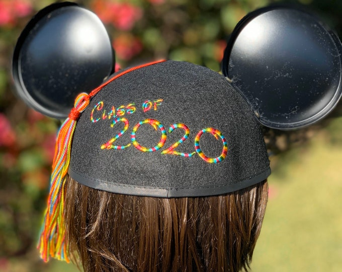 Class of 2020 Graduation Mickey Mouse Ear Hat with Tassel