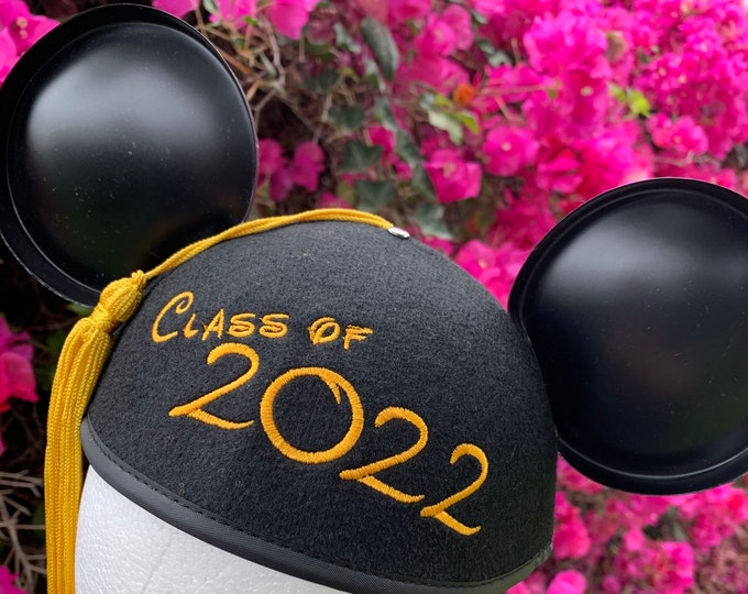 Class of 2022 Graduation Mickey Mouse Ear Hat with Tassel