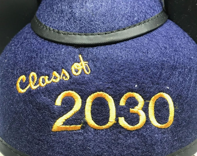 Personalized Custom Year Graduation Mickey Mouse Ear Hat