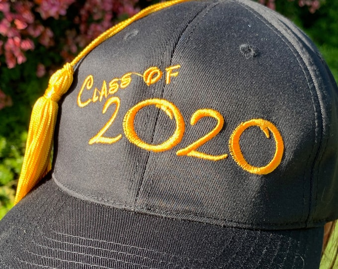Class of 2020 Graduation Baseball Cap with Tassel