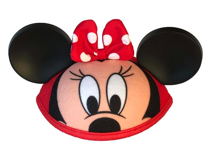 Personalized Infant Minnie Mouse Face Ear Hat