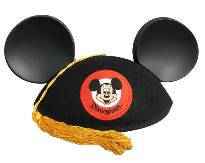 Personalized Class of 2018 Graduation Mickey Mouse Ear Hat with Tassel
