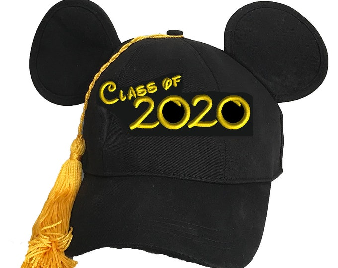 Class of 2020 Graduation Mickey Mouse Baseball Cap with Tassel