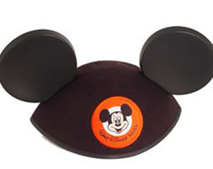 Adult Walt Disney World Personalized Black Mickey Mouse Ear Hat