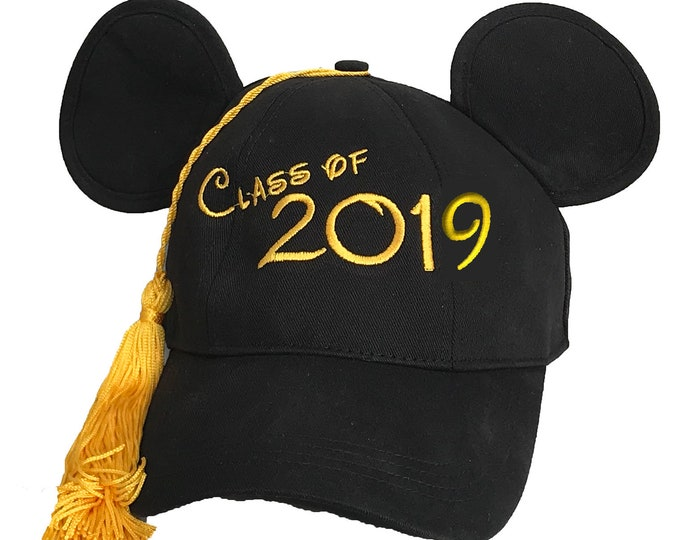 Class of 2019 Graduation Mickey Mouse Baseball Cap with Tassel