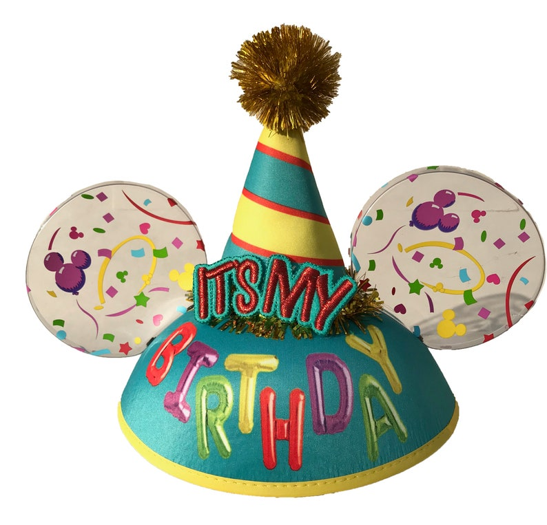 Personalized It's My Birthday Mickey Mouse Ear Hat image 0