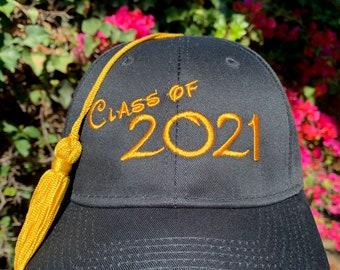 Class of 2021 Graduation Baseball Cap with Tassel
