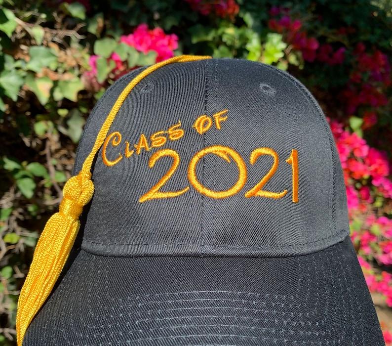 Class of 2021 Graduation Baseball Cap with Tassel image 0