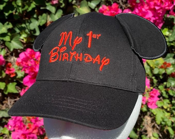 My 1st Birthday Mickey Mouse Ear Cap