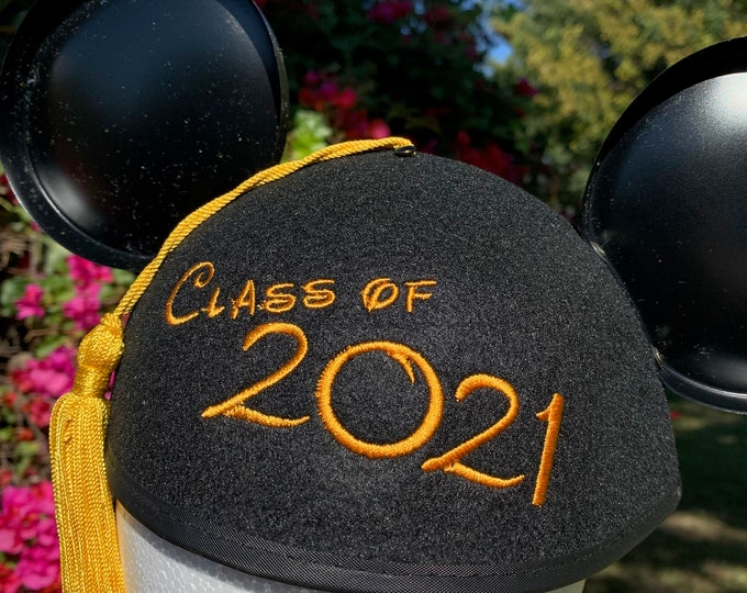 Class of 2021 Graduation Mickey Mouse Ear Hat with Tassel