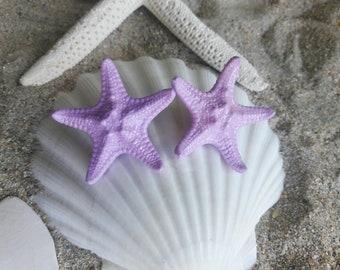 Lilac Starfish Earrings